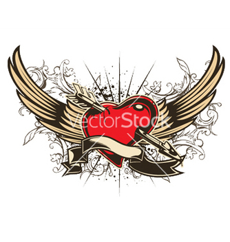 Free valentine emblem vector - Free vector #252831