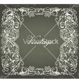 Free grunge baroque floral frame vector - vector gratuit #252981