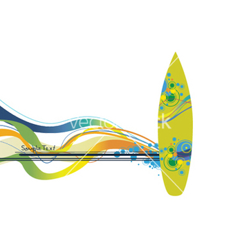 Free summer background with surfboard vector - vector gratuit #253071