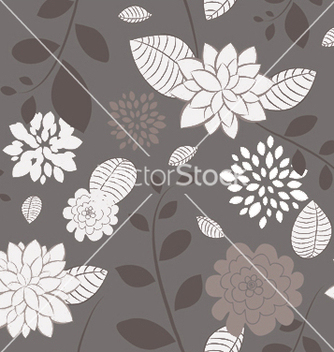 Free abstract seamless floral background vector - Free vector #253091