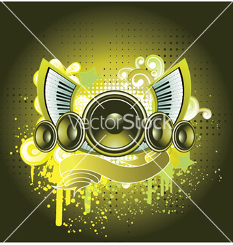 Free concert poster with speaker vector - vector #253151 gratis