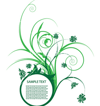 Free floral frame vector - Kostenloses vector #253161