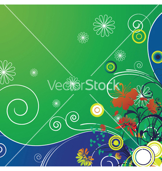 Free popart floral background with circles vector - Kostenloses vector #253171