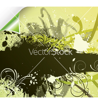 Free grunge floral background vector - бесплатный vector #253221