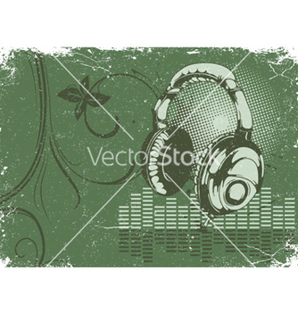 Free concert poster with headphones vector - Free vector #253361