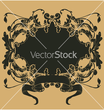 Free vintage floral frame with scroll vector - бесплатный vector #253471
