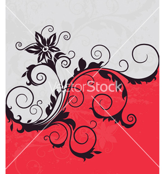 Free retro floral background vector - Free vector #253511