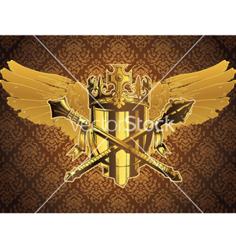 Free vintage crest with wings vector - Free vector #253621