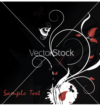 Free floral with splash vector - бесплатный vector #253681