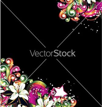 Free abstract background with floral vector - Kostenloses vector #253771