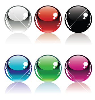 Free glossy buttons set vector - Free vector #253781