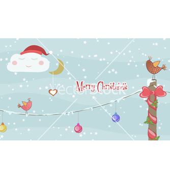 Free christmas greeting card vector - Kostenloses vector #254101