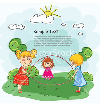Free little girls playing vector - Free vector #254151