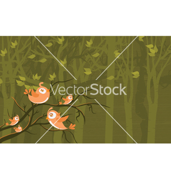 Free birds on a branch vector - vector gratuit #254211