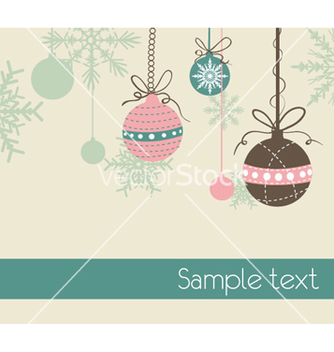 Free christmas greeting card vector - бесплатный vector #254281