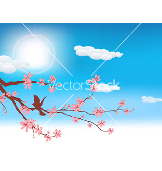 Free bird on a brach vector - Kostenloses vector #254291