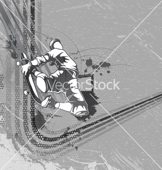 Free skater with grunge background vector - бесплатный vector #254421