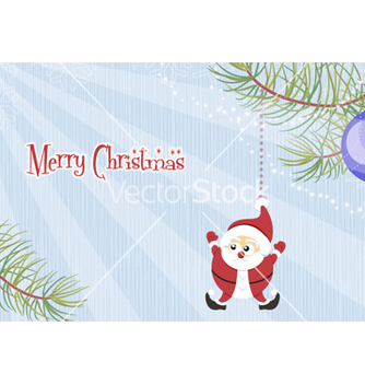 Free santa with rays vector - vector gratuit #254441