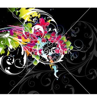 Free colorful floral background vector - Free vector #254611