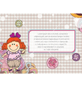 Free little girl with floral vector - Free vector #254631