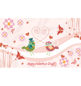 Free birds in love vector - vector #255121 gratis