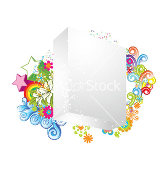Free blank 3d box with floral vector - vector gratuit #255221