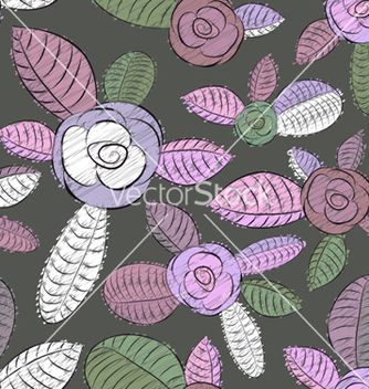 Free retro floral background vector - Free vector #255331