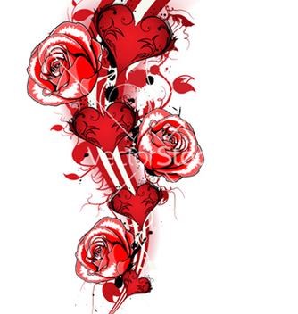 Free valentines background with roses vector - vector #255511 gratis