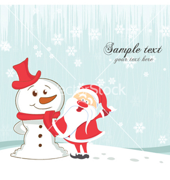 Free christmas greeting card vector - Free vector #255661