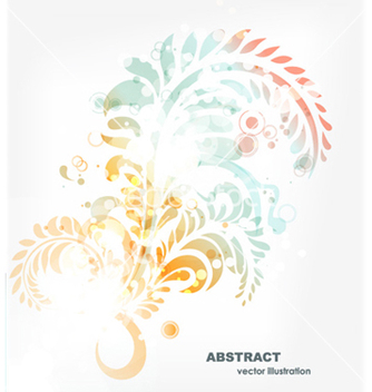 Free colorful abstract swirls vector - vector gratuit #255681