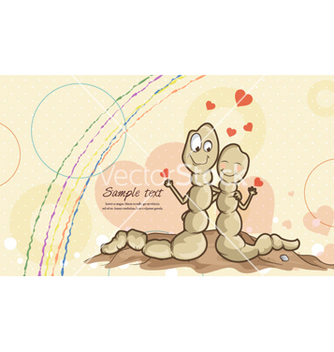Free worms in love vector - vector gratuit #255741