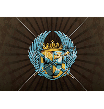 Free vintage emblem with crest vector - Kostenloses vector #255911