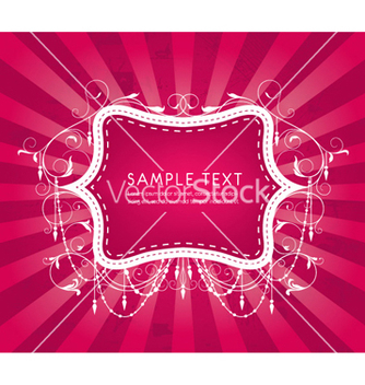 Free abstract floral frame vector - Free vector #255971