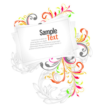 Free blank paper sheets with floral vector - Free vector #256251