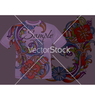Free colorful floral tshirt design vector - vector gratuit #256281