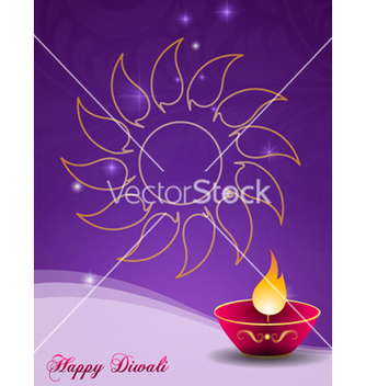 Free diwali greeting card vector - бесплатный vector #256341