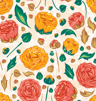 Free colorful floral pattern vector - vector #256411 gratis