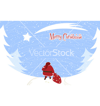 Free santa with trees vector - Kostenloses vector #256621