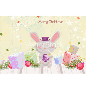 Free bunny with presents vector - бесплатный vector #256751