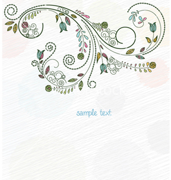 Free doodles floral background vector - Free vector #256781