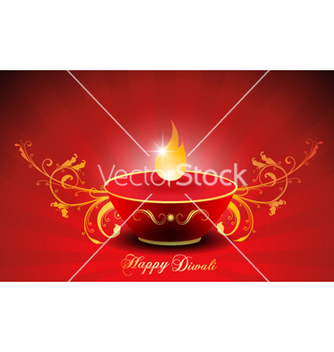 Free diwali card vector - бесплатный vector #257111