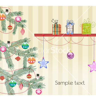 Free christmas greeting card vector - Kostenloses vector #257181