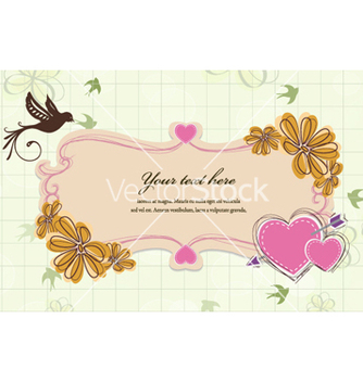 Free abstract floral frame vector - Kostenloses vector #257521