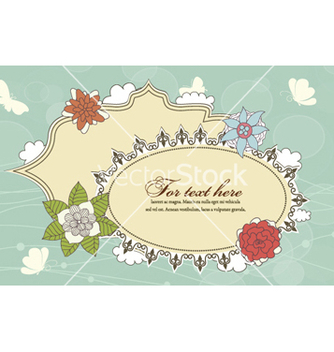 Free abstract frame with floral vector - Free vector #257551