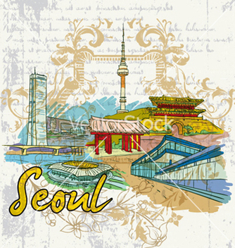 Free seoul doodles vector - Kostenloses vector #257591