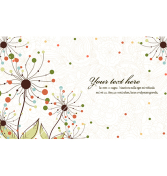 Free floral background vector - Free vector #257611