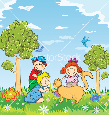 Free kids playing vector - Free vector #257681