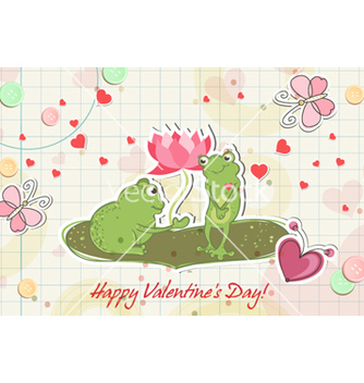 Free frogs in love vector - vector gratuit #257801