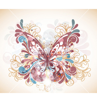 Free abstract butterfly with swirls vector - Kostenloses vector #257861