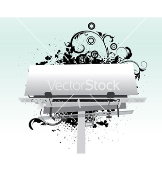 Free billboard with floral vector - Kostenloses vector #257921